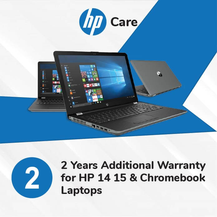 HP Care Pack 2 Years Additional Warranty for HP 14 15 and Chromebook Laptops
