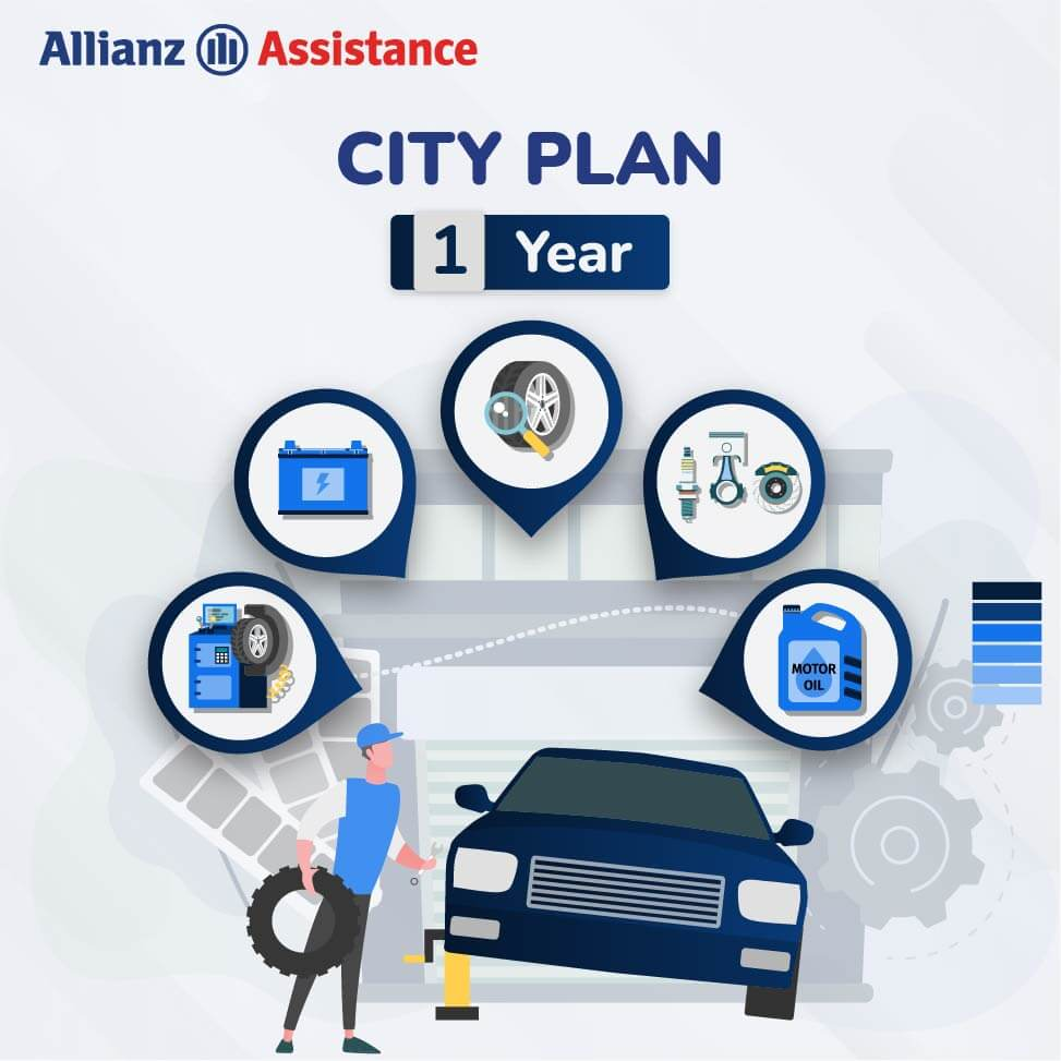 Allianz One Year Road Side CITY Assistance Plan for Four Wheeler