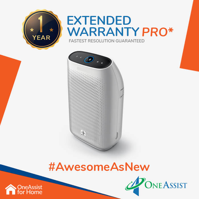 OneAssist One Year Plan (Device Price Range 8001 - 12000) for Air Purifier