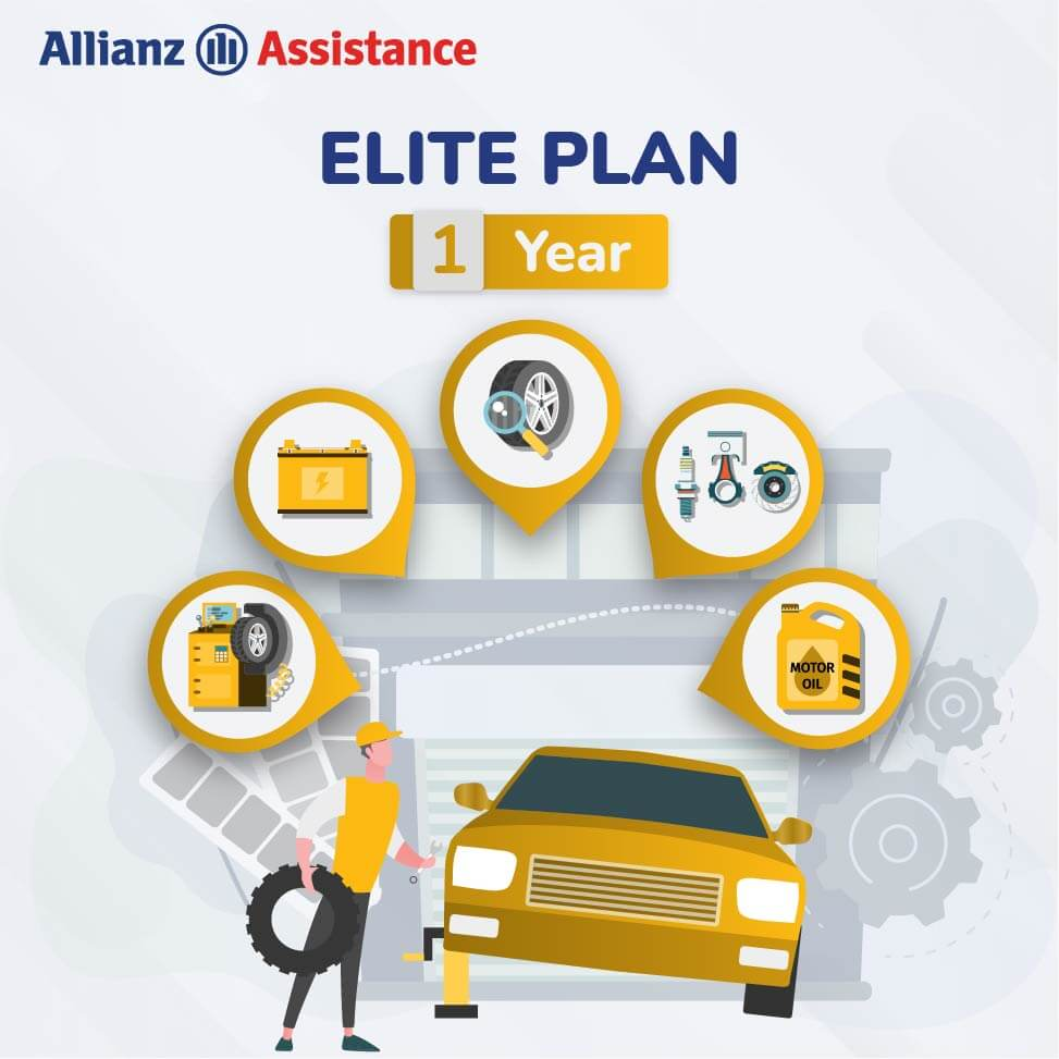 Allianz One Year Road Side ELITE Assistance Plan for Four Wheeler