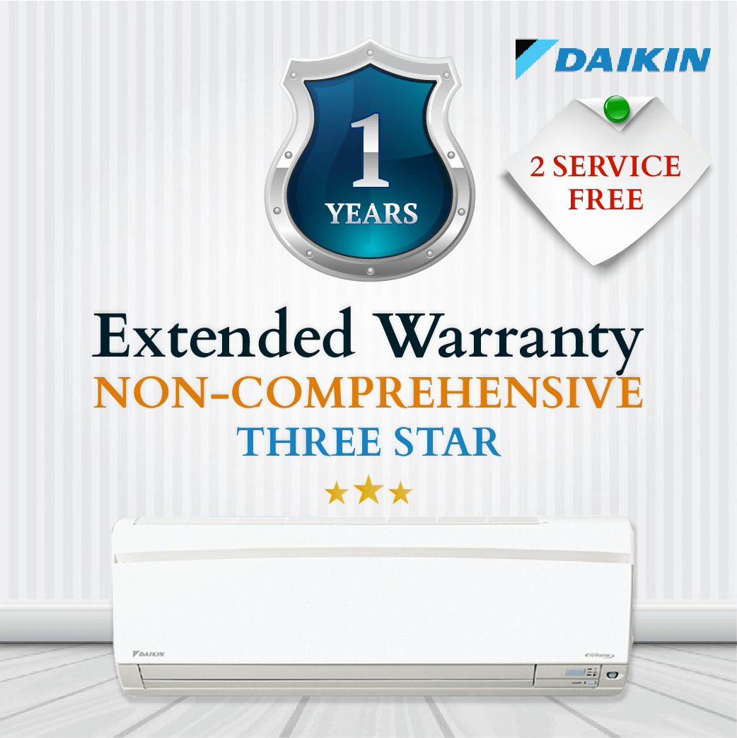 Daikin Non-Comprehensive Warranty - Upto Three Star