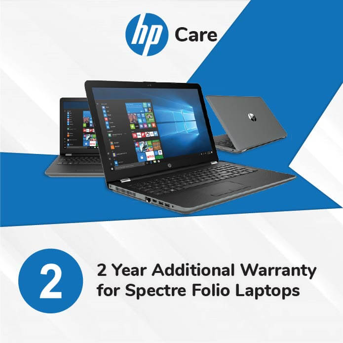 HP Care Pack 2 Years Additional Warranty for Spectre Folio Laptops