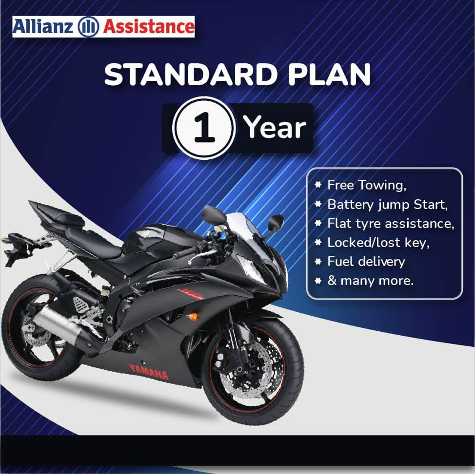 Allianz One Year Road Side STANDARD Assistance Plan for Two Wheeler