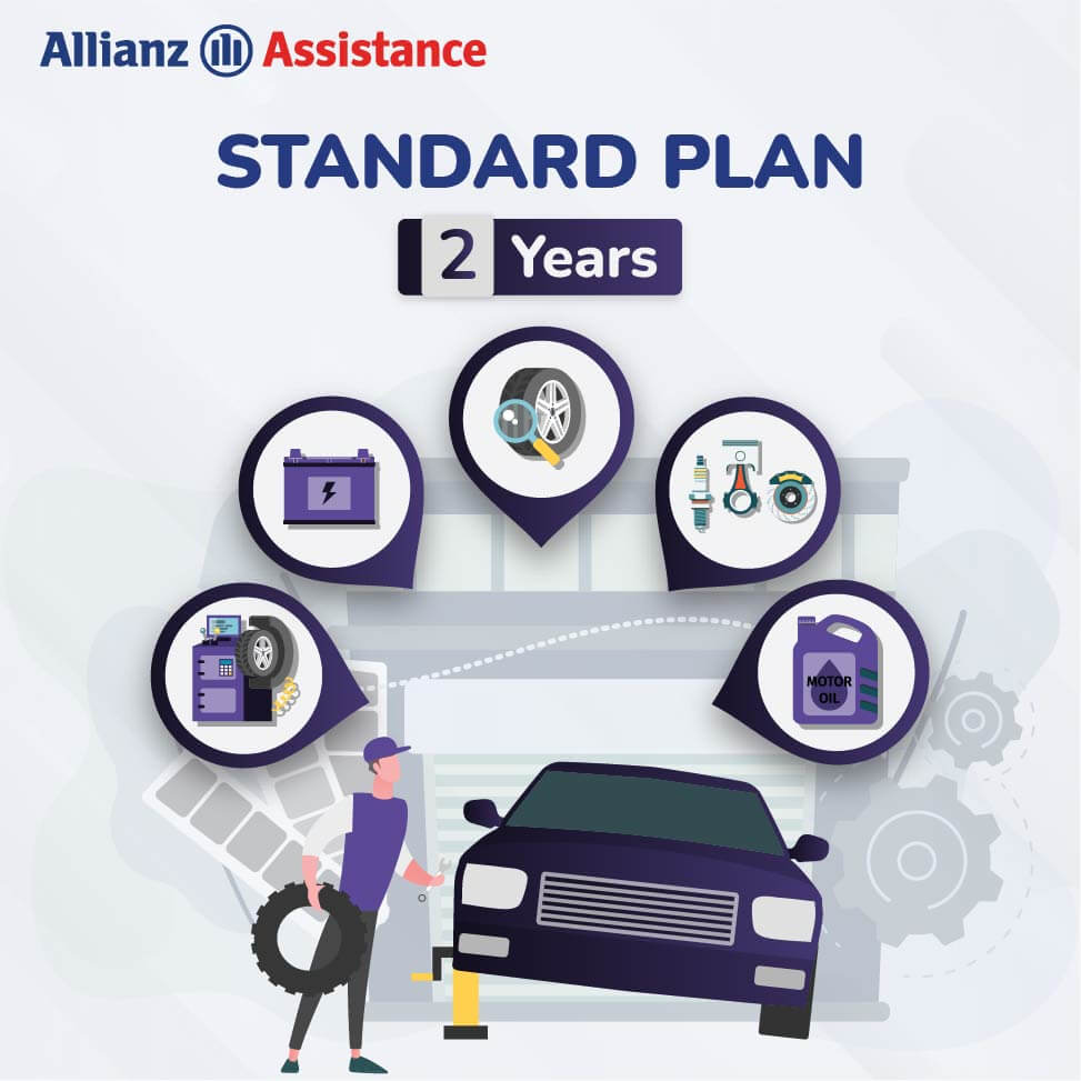 Allianz Two Years Road Side Standard Assistance Plan for Four Wheeler