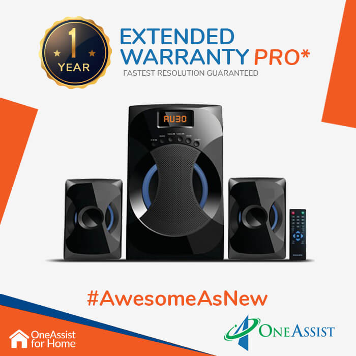 OneAssist One Year Plan (Device Price Range 30001 - 50000) for Home Theatre