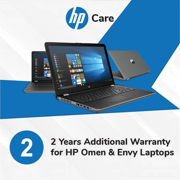 HP Care Pack 2 Years Additional Warranty for Envy and Omen Laptops