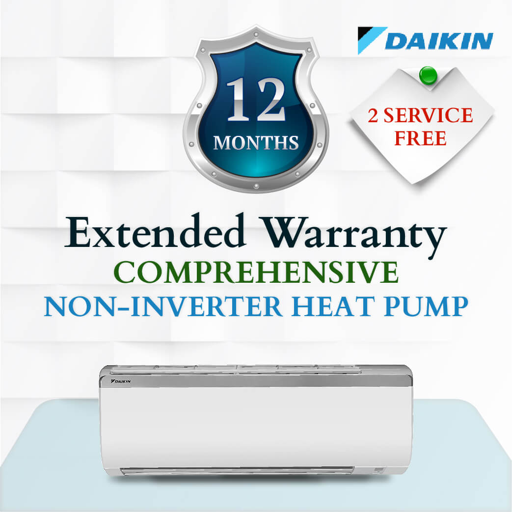 Daikin Comprehensive Warranty - Non Inverter Heat Pump