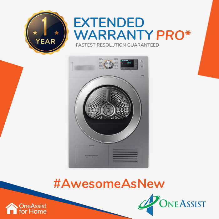 OneAssist One Year Plan (Device Price Range 25001 - 35000) for Dryer