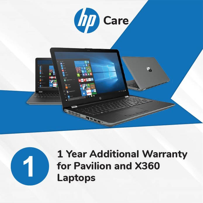 HP Care Pack 1 Year Additional Warranty for Pavilion and X360 Laptops