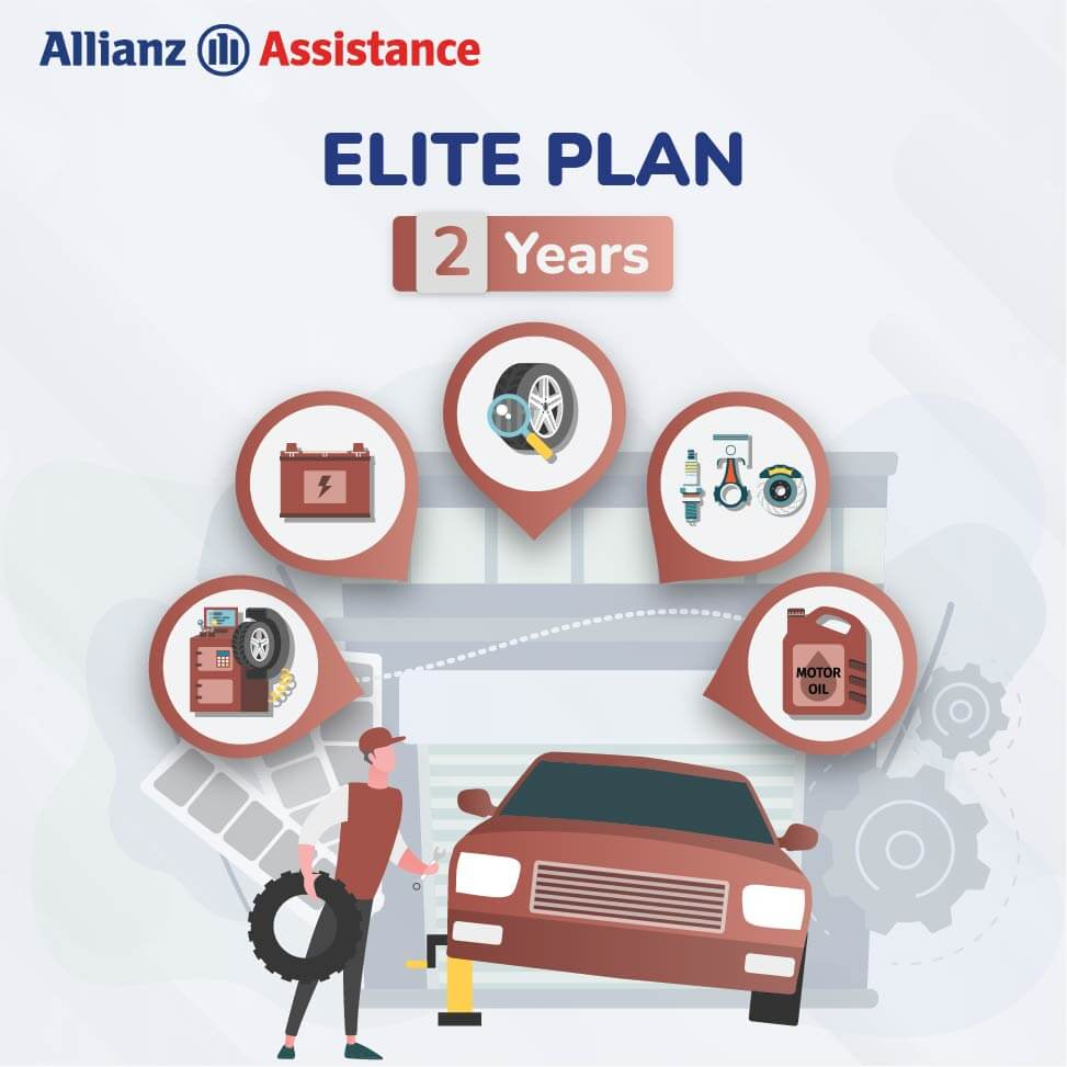 Allianz Two Years Road Side ELITE Assistance Plan for Four Wheeler