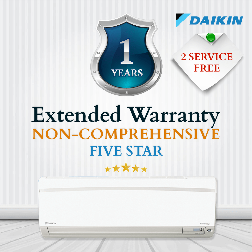 Daikin Non-Comprehensive Warranty - Four Or Five Star
