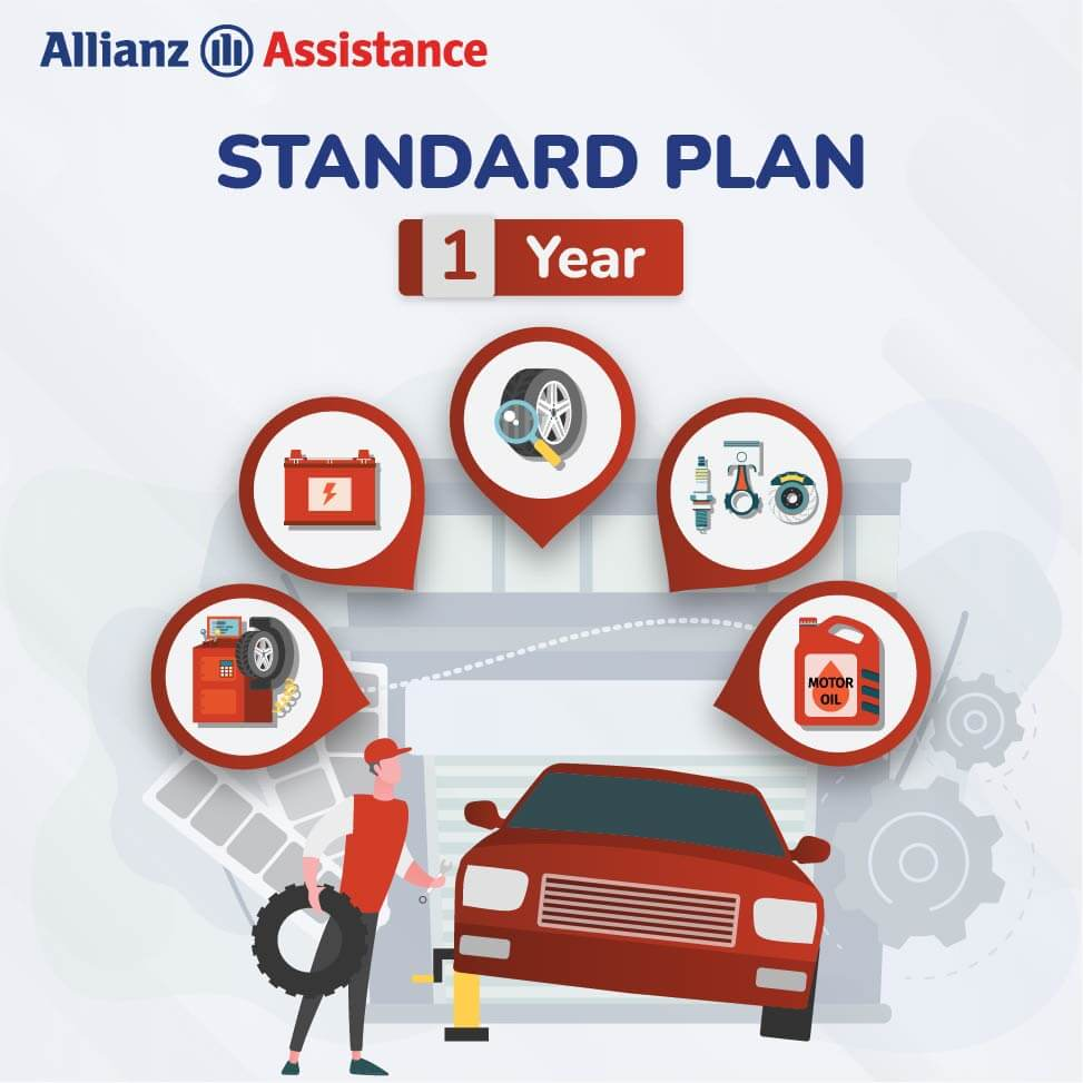 Allianz One Year Road Side STANDARD Assistance Plan for Four Wheeler