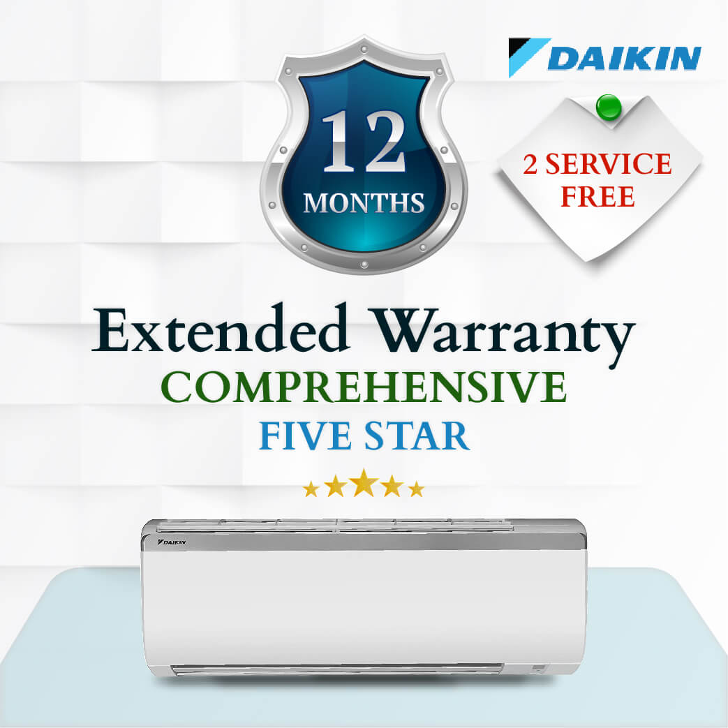 Daikin Comprehensive Warranty - Four Or Five Star