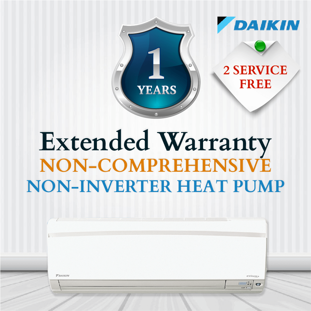 Daikin Non-Comprehensive Warranty - Non Inverter Heat Pump
