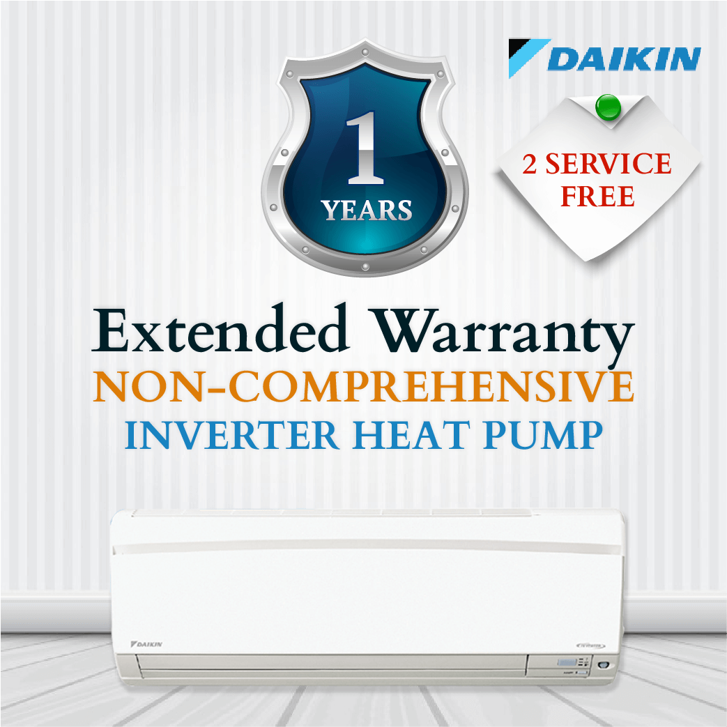 Daikin Non-Comprehensive Warranty - Inverter Heat Pump