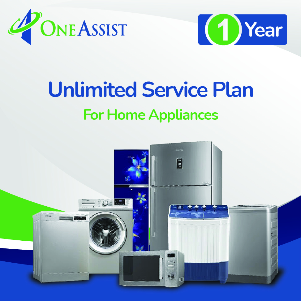 OneAssist One Year UNLIMITED Service Plan for Appliances