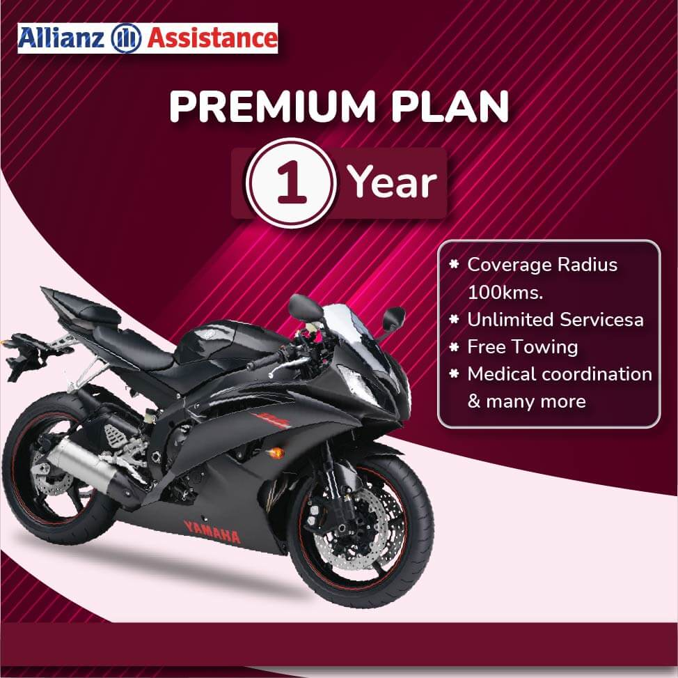 Allianz One Year Road Side PREMIUM Assistance Plan for Two Wheeler
