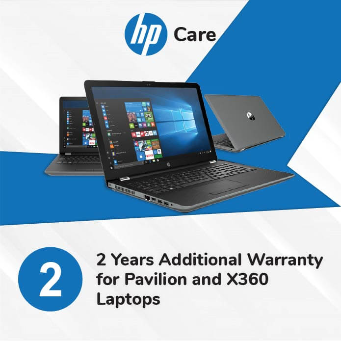 HP Care Pack 2 Years Additional Warranty for Pavilion and X360 Laptops