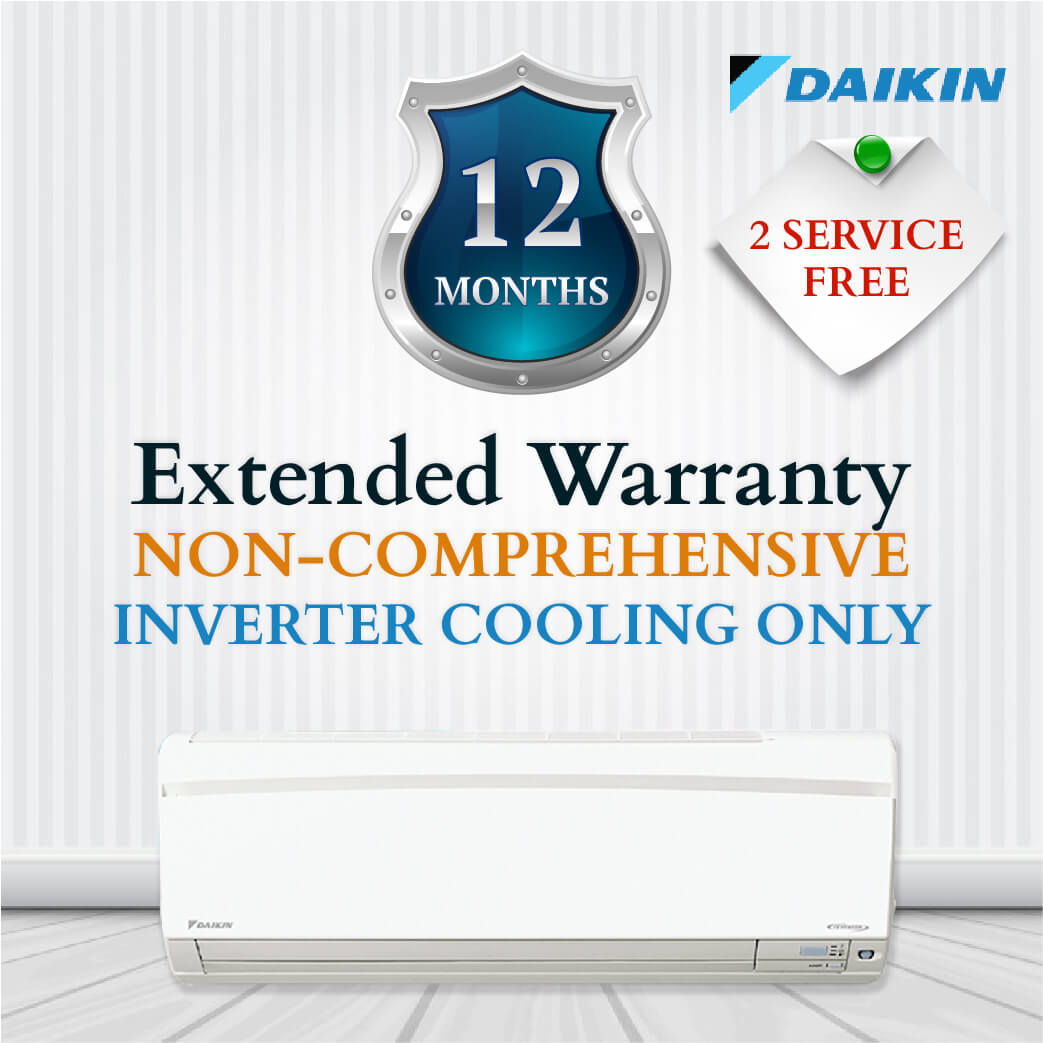 Daikin Non-Comprehensive Warranty - Inverter Cooling Only
