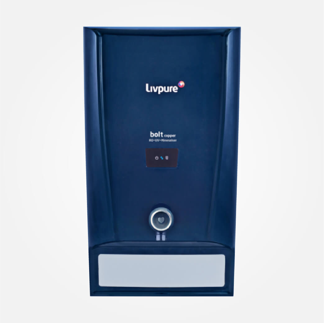 Livpure RO + UV + Mineraliser Water Purifier (Bolt Copper, Blue)