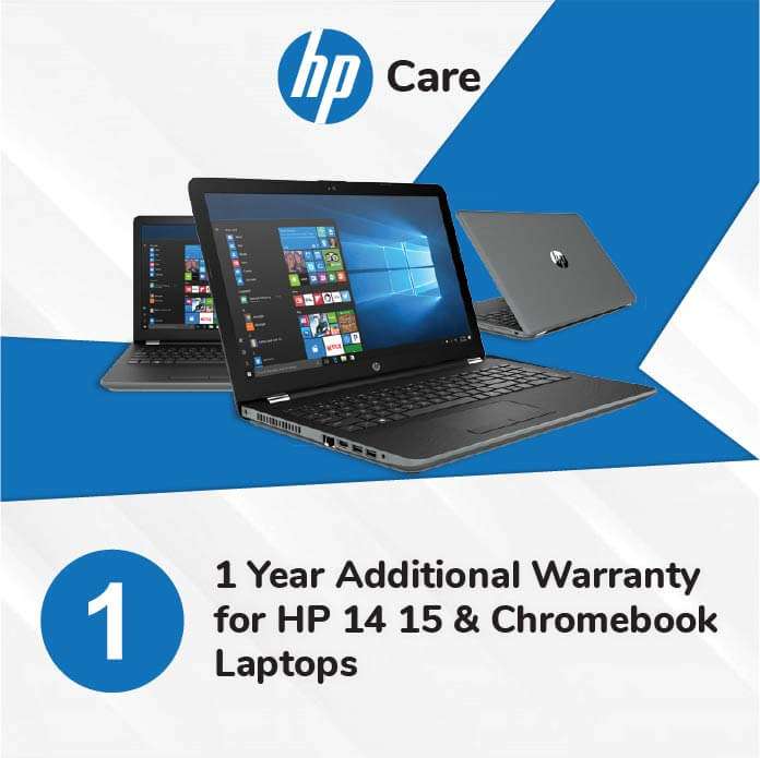 HP Care Pack 1 Year Additional Warranty for HP 14 15 and Chromebook Laptops